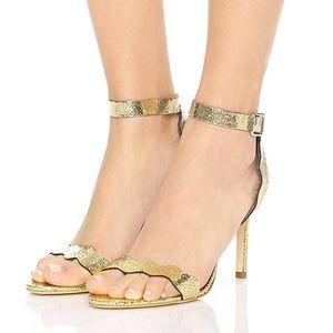 ✨Loeffler Randall✨ 'Amelia' cracked gold heels